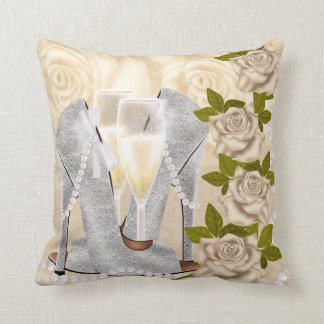 Shoes Roses Pearls And Champagne Pillows