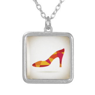 Shoes Silver Plated Necklace