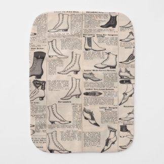 Shoes Vintage Antique typography graphic art Burp Cloth
