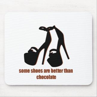 Shoes vs Chocolate Funny graphics Mousepad