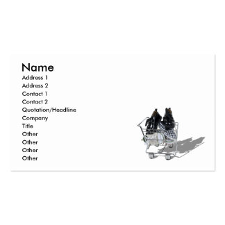 ShoeShopping101610, Name, Address 1, Address 2,... Pack Of Standard Business Cards