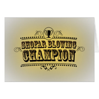 Shofar Blowing Champion Card