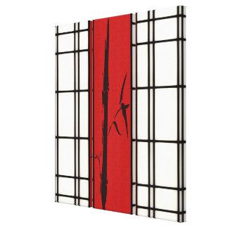 Shoji - bamboo canvas print