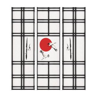 Shoji - flying cranes canvas print
