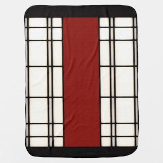 shoji - red baby blanket