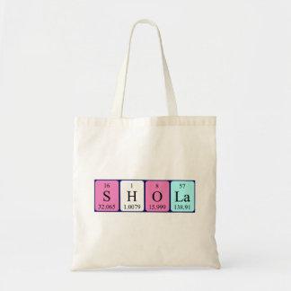 Shola periodic table name tote bag