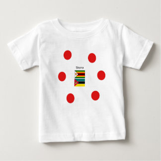 Shona Language And Zimbabwe and Mozambique Flags Baby T-Shirt
