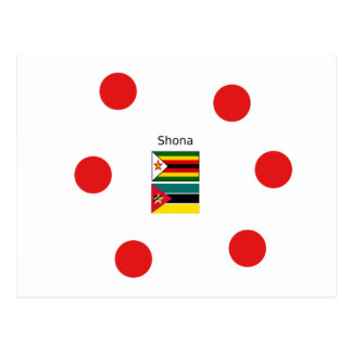 Shona Language And Zimbabwe and Mozambique Flags Postcard