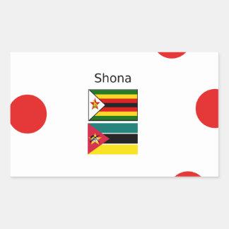 Shona Language And Zimbabwe and Mozambique Flags Rectangular Sticker