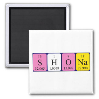 Shona periodic table name magnet