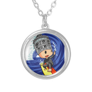 Shonan large Wednesday boy English story Shonan Silver Plated Necklace