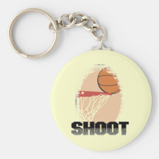 Shoot Basketball T-shirts and Gifts Key Chains
