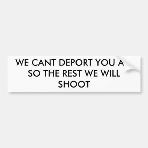 SHOOT BUMPER STICKERS
