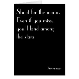 Shoot for the moon - birthday, uplifting, vintage card