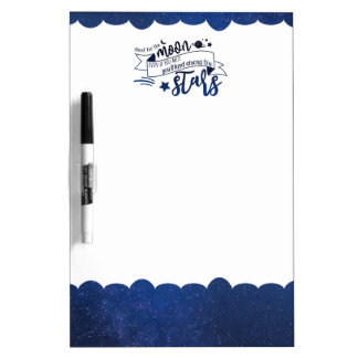 Shoot for the Moon Dry Erase Board