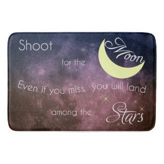 Shoot for the Moon Inspirational Bath Mat Bath Mats