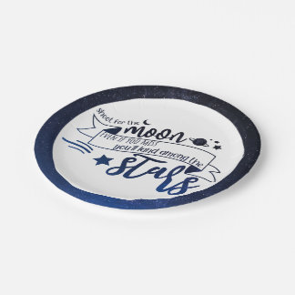 Shoot for the Moon Paper Plate