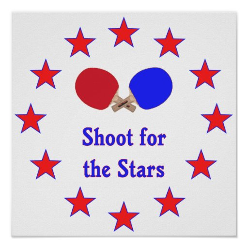 Shoot for the Stars Ping Pong Print