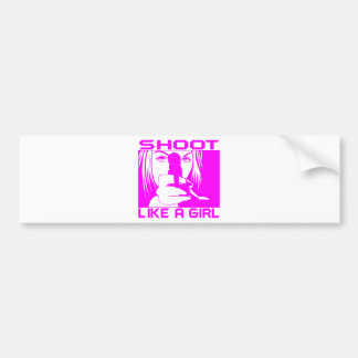 SHOOT LIKE A GIRL BUMPER STICKERS