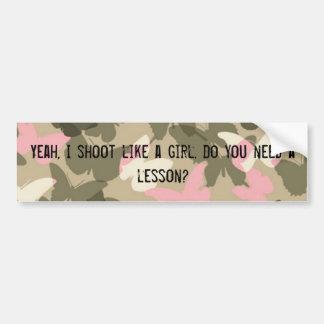 Shoot Like a Girl Bumper Sticker