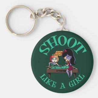 Shoot Like A Girl Key Ring