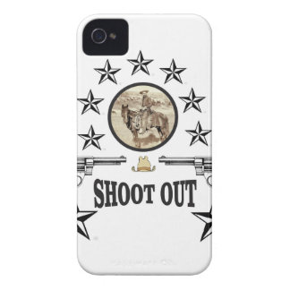 shoot out western art iPhone 4 cover