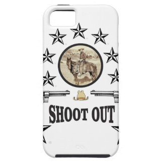 shoot out western art iPhone 5 case