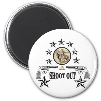 shoot out western art magnet