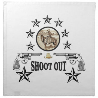 shoot out western art napkin