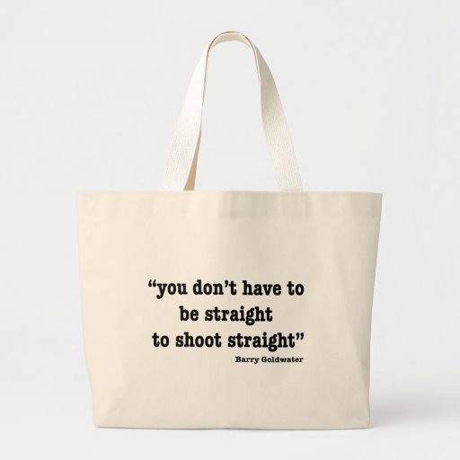 Shoot Straight Canvas Bags