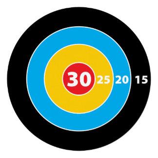 Shoot Target Hunters 30th Birthday Invitation