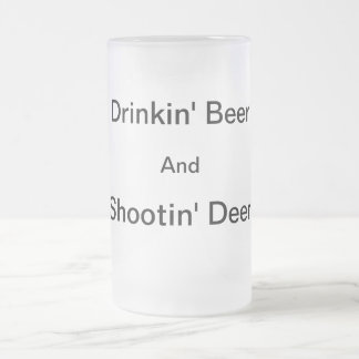 Shootin' Deer Frosty Beer Mug
