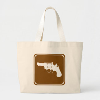 Shooting Range Highway Sign Tote Bag