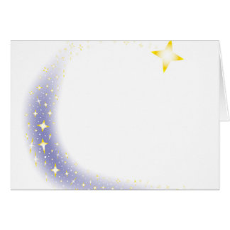 Shooting Star Background Card