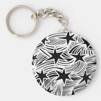 Shooting Star Basic Round Button Key Ring