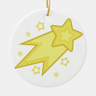 Shooting Star Ceramic Ornament