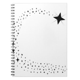 Shooting Star Cluster Spiral Notebook