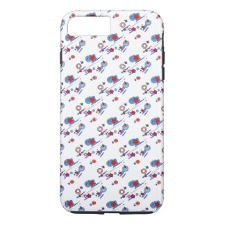 Shooting Star Comet Red White Blue Cell Phone Case