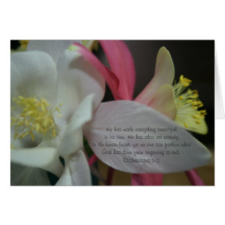 Shooting Star - Coumbine Bloom Ecclesiastes 3:11 Card
