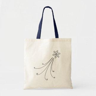Shooting Star Flower Tote Bag
