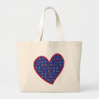 Shooting-Star-Heart Large Tote Bag