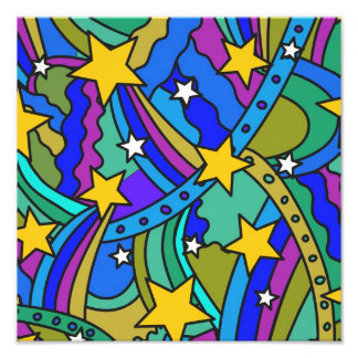 Shooting Star Hippie Pattern Photo