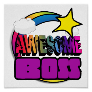 Shooting Star Rainbow Awesome Boss Poster