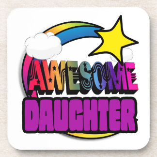 Shooting Star Rainbow Awesome Daughter Beverage Coasters