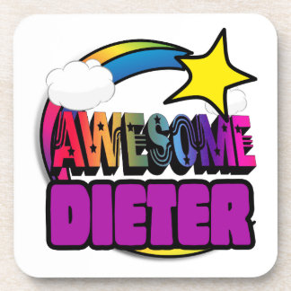 Shooting Star Rainbow Awesome Dieter Beverage Coaster