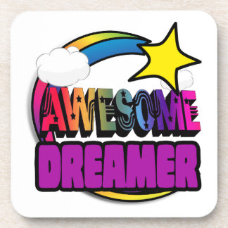 Shooting Star Rainbow Awesome Dreamer Drink Coaster