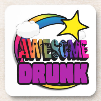 Shooting Star Rainbow Awesome Drunk Coaster