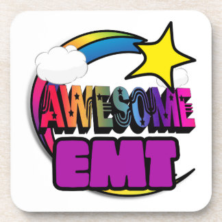 Shooting Star Rainbow Awesome EMT Drink Coasters