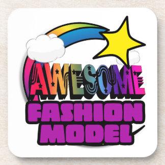 Shooting Star Rainbow Awesome Fashion Model Drink Coaster