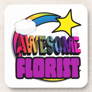 Shooting Star Rainbow Awesome Florist Beverage Coaster